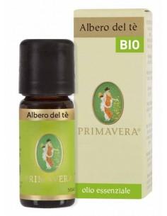 Olio essenziale di albero del tè, 100% puro, naturale e totale, proveniente da coltivazione biologiche controllate.