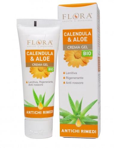 crema gel calendula e aloe vera per pelli sensibili e delicate