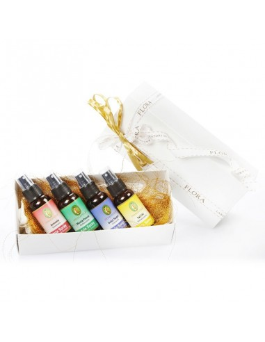 confezione regalo con 4 aria spray con oli essenziali puri 100%
